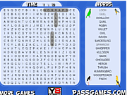 Birds Word Search game