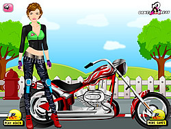 Biker Girl Dress Up game