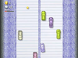 Notebook Car Drive game