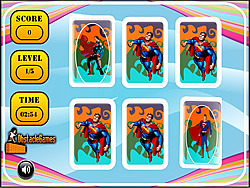 Superman Memory Match game