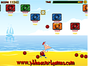 Phineas and Ferb Beach Sport game