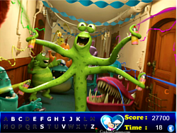 Hidden letters : Monster university game