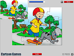 Caillou Jigsaw game