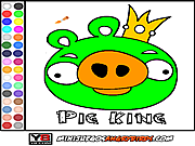 Colorear Pig King لعبة