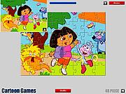 Dora Cartoon Jigsaw game