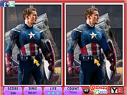 10 Differences - Captain America game