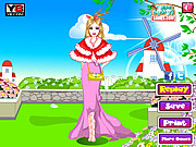 Pink Barbie Dressup game
