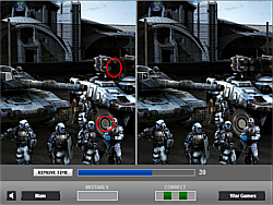 Force of War: Find the Differences game