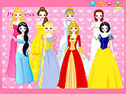 Play Disney princess dress up Game