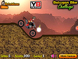 Bakugan Bike Challenge game