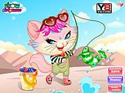 Naughty Kitten Like To Go Fishing game