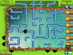 Penguin Pipe Maze game