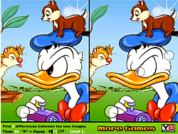 Duck and Chipmunks Differences game