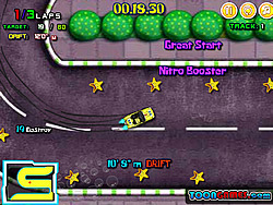 Gioca gratuitamente a Spongebob Speed Car Racing 2