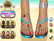 Hot Beach Sandals game