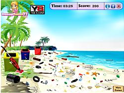 Beach Camp Cleanup game