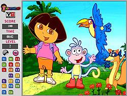 Dora Hidden Number game