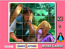 Princess Rapunzel Spin Puzzle game