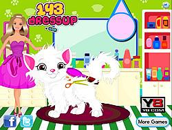Jucați jocuri gratuite Barbie Cat Hair Salon Care
