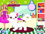 Barbie Cat Hair Salon Care game