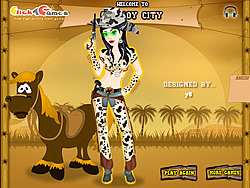 Voguish Cowgirl Dress-Up game