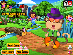 Dora and Boots Dress Up game