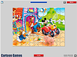 Mickey Mouse Jigsaw Game game