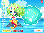 Cute little mermaid princess game