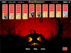 Halloween Spider Solitaire game