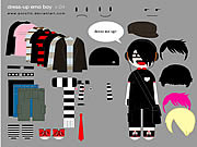 Play Little emo boy dress up Game