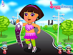 Pretty Dora Roller Skating game