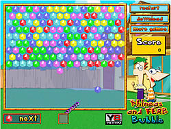 Phineas and Ferb Bubble game