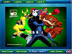 Ben 10 all powers Jigsaw game