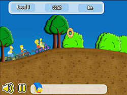 Simpsons Bike Rally game