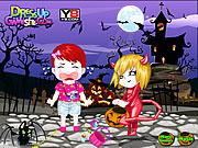 Baby Lulu at Halloween game