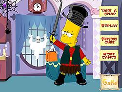 Bart Simpson Halloween Dressup game