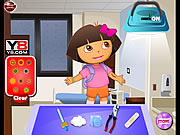 Dora the Explorer, at the Doctor game
