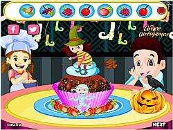 Happy Halloween  Cupcake game