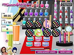 Make Up Memory Game game