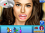 Angelina Jolie at the Dentist game