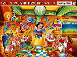 Princess snow white Hidden Numbers game