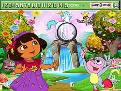 Cute Dora Hidden Numbers game