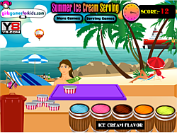 Summer Ice Cream Serving game