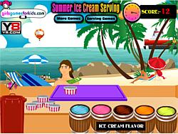 Summer Ice Cream Serving game