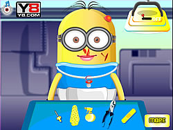 Baby Minion at the doctor game