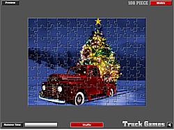 Christmas Truck Jigsaw game
