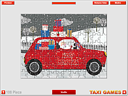 Christmas Taxi Jigsaw game