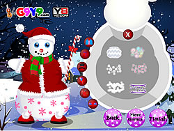 Snow Man Xmas Dress up game