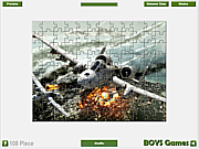 Plane Jigsaw Game game