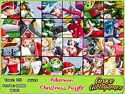 pokemon Christmas puzzle game